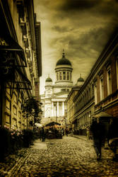 The streets of Helsinki