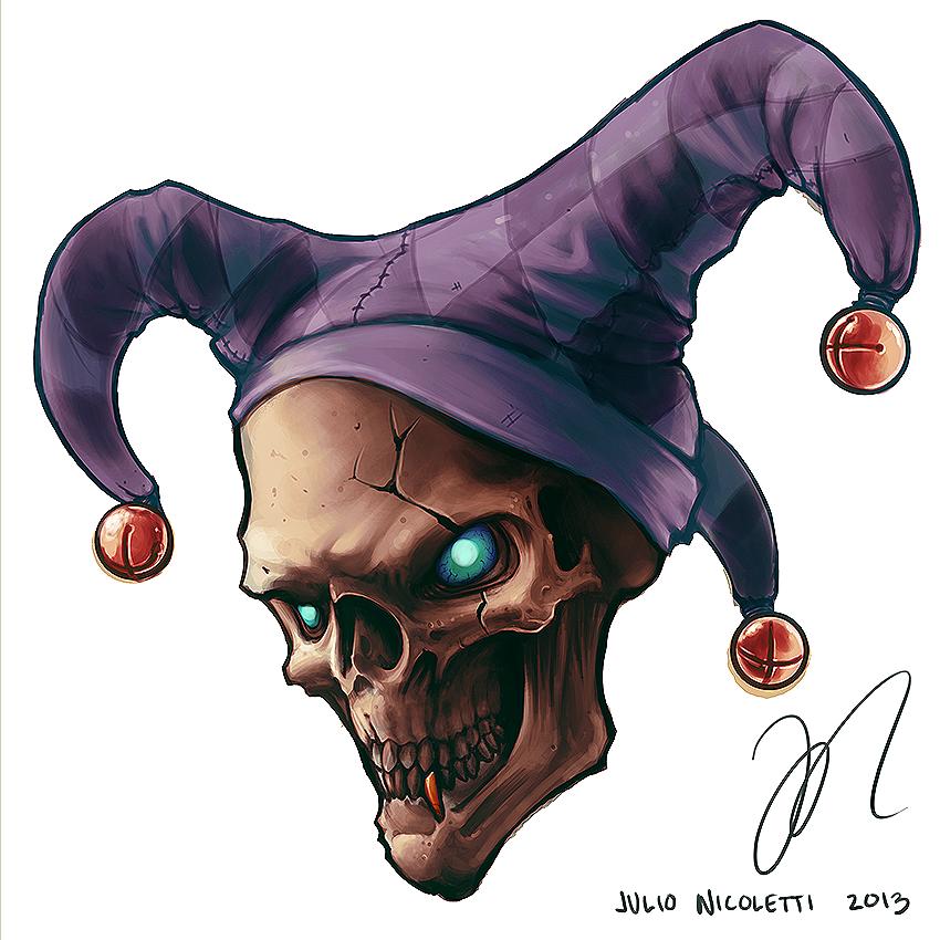 Jester Skull Tattoo Design By JulioNicoletti On DeviantArt
