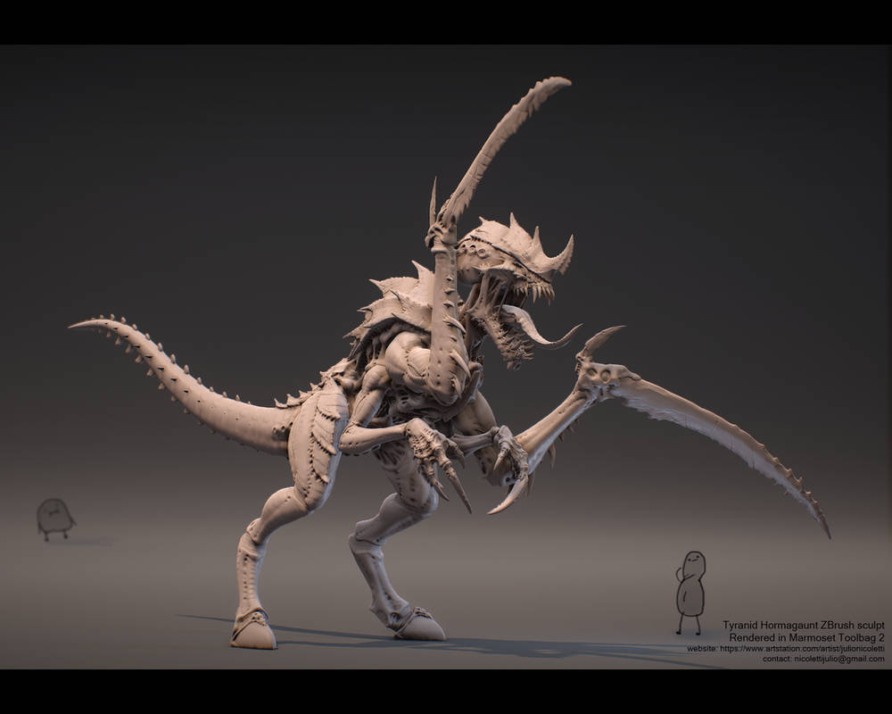 Tyranid Hormagaunt by JulioNicoletti on DeviantArt