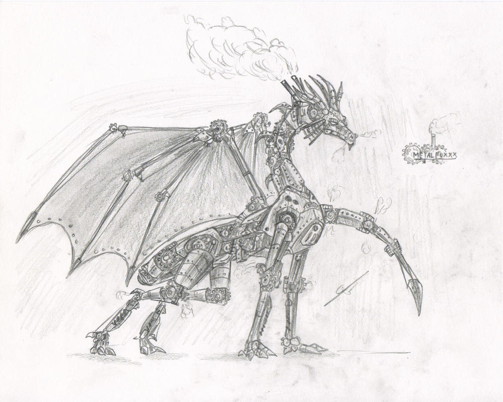Steampunk Dragon By Metalfoxxx