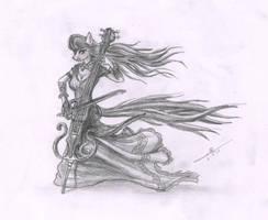 The cellist of Equestria by metalfoxxx