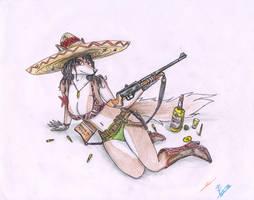 Furry Guns series 01 - Viva Mexico by metalfoxxx