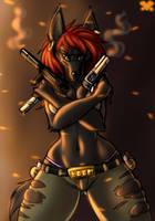 Roxy the Jackal by metalfoxxx