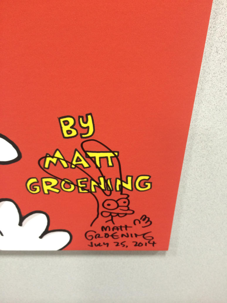 Matt Groening Signed Binky picture by Kataang102