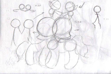 [Code.Mas] Sketch - MOAR PONIES by Kudaranai-Risu