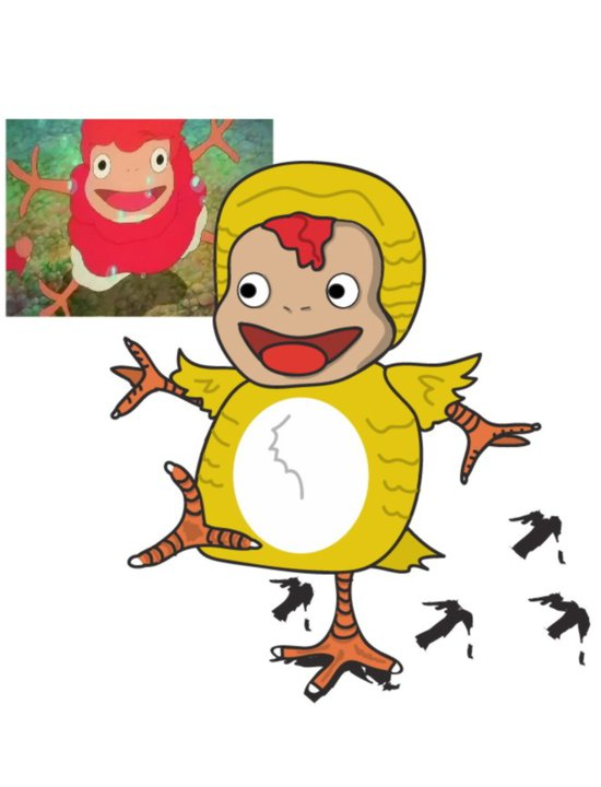 Ponyo Chicken Suit By Futurehayao On Deviantart