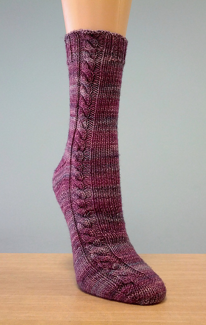 Cabled Socks by emiko42