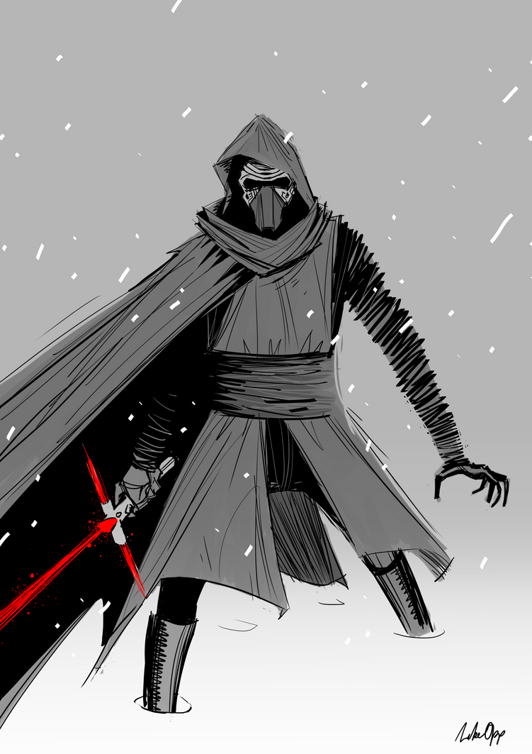Kylo Ren by MikeOppArt
