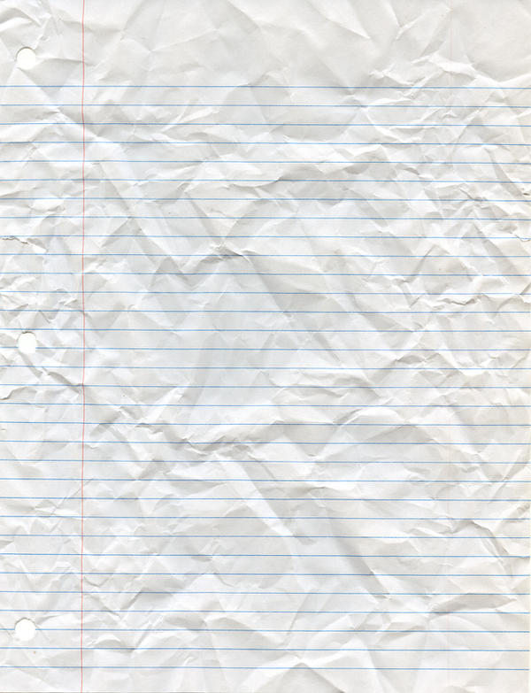Crumpled Looseleaf Paper by Cliffski on DeviantArt