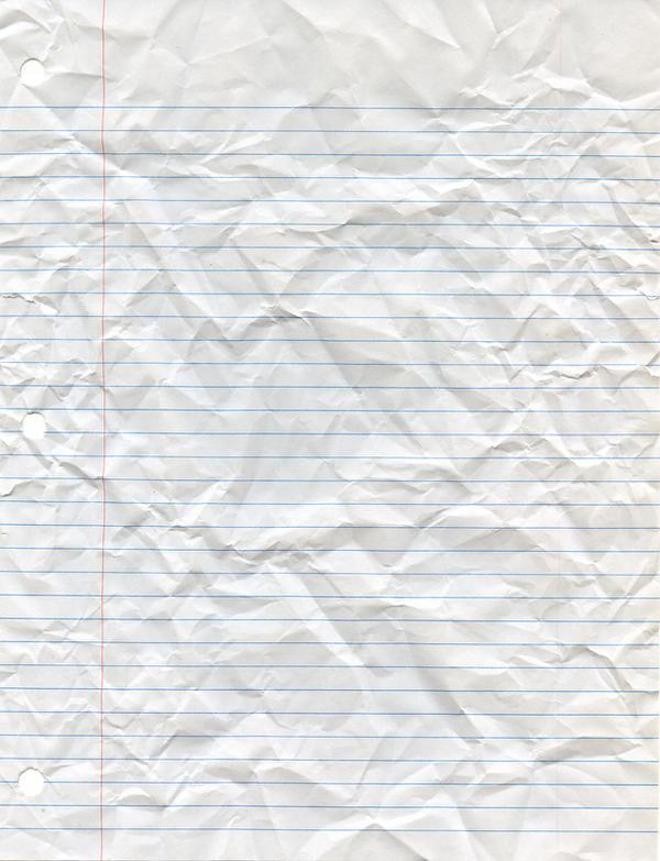 Crumpled Looseleaf Paper By Cliffski ...  Loose Leaf Paper Background