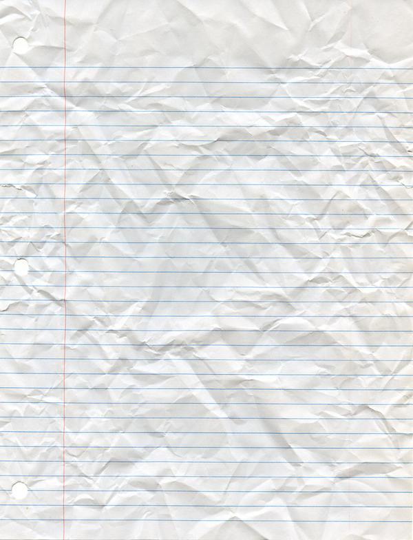 Crumpled Looseleaf Paper