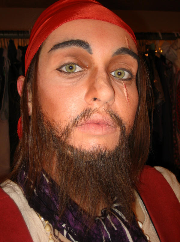 pirate makeup. Stage Makeup: Pirate 2 by