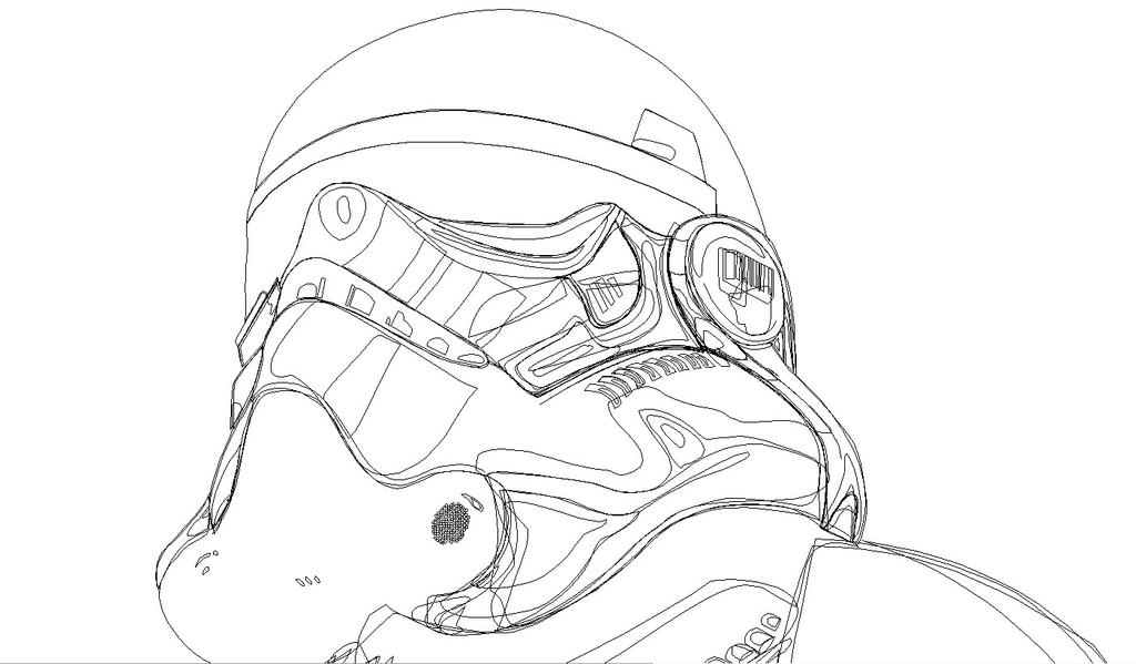 Star Wars, simplified wireframe view by Luinia on DeviantArt