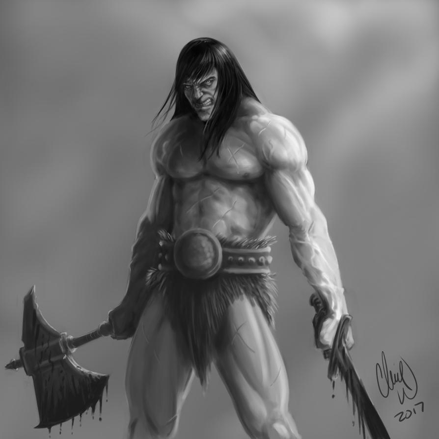 Conan sword axe by veritas71