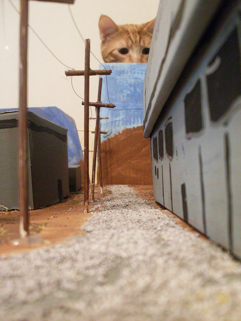 Catzilla Attacks Hanford by BountyHunterMacko