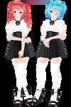 [MMD,Tda]High Society Miku,Teto [DL!]