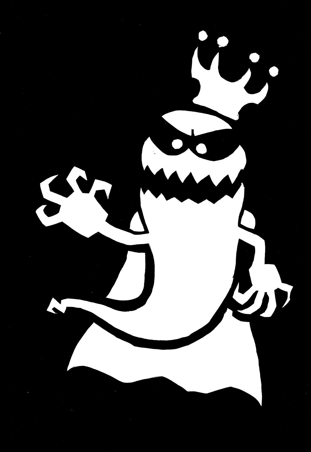 King Ghost stencil/minimalist/paper cut by EB-the-GAMER