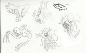 Rage Faces Sketch by Jinbeizamezama
