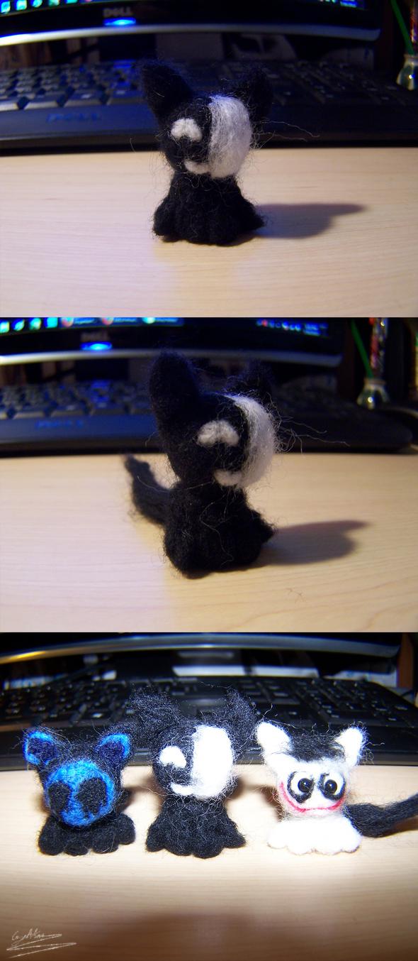 Wool Felting: KageKitty by GingaAkam