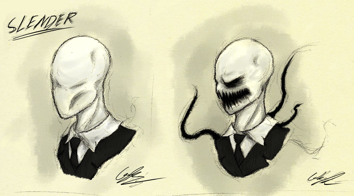 Traditional: Slenderman Idle and Rage by GingaAkam