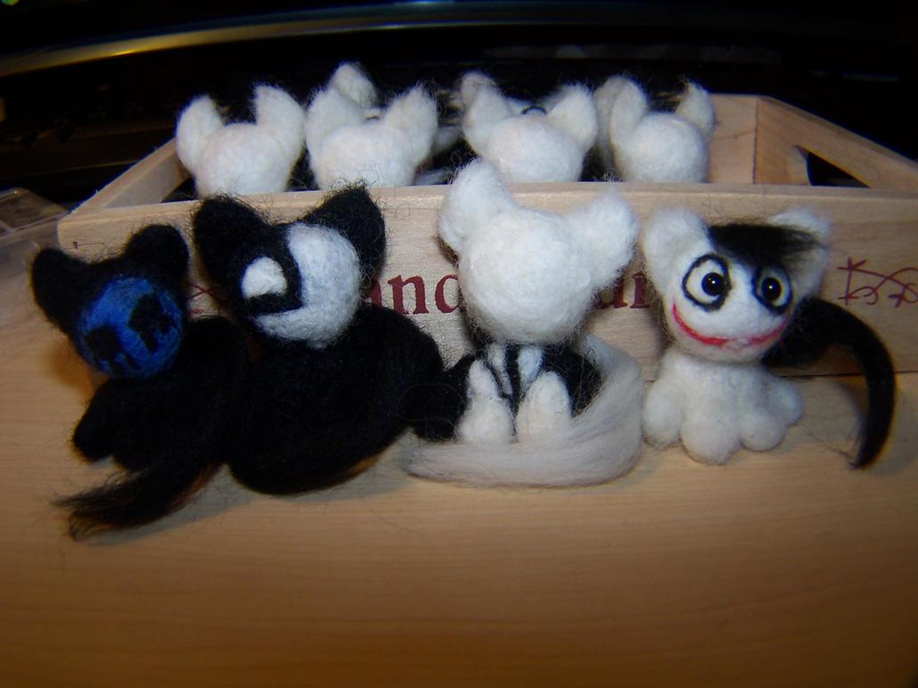 Wool Creepy Kitties [Buy Kitties Here] by GingaAkam