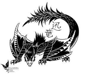 Nargacuga the Swift Wyvern by Jinbeizamezama