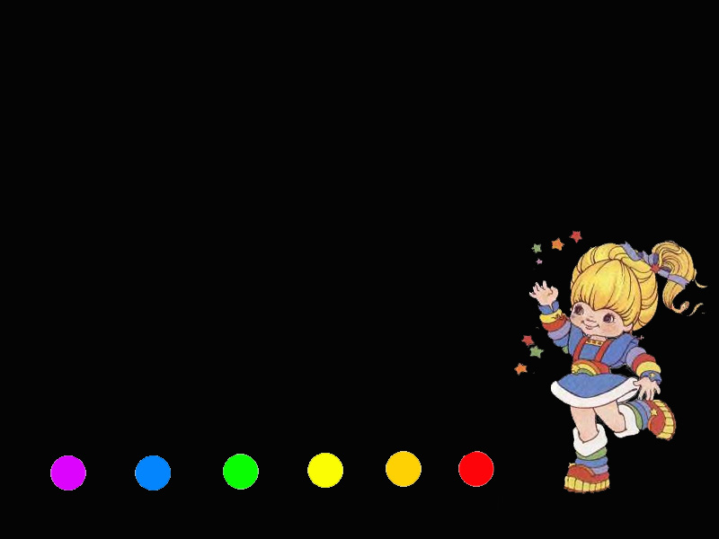 Rainbow Brite Black by OctophetusBright Rainbow Wallpaper