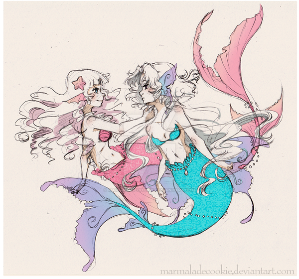 mermaids by Marmaladecookie