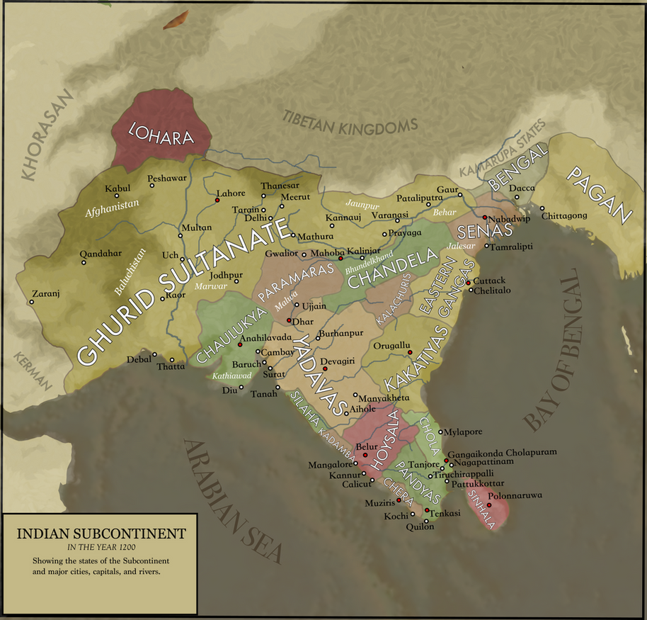 Map of the indian subcontinent in 1200 by mandirafan on deviantart map of the indian subcontinent in 1200 by mandirafan gumiabroncs Gallery