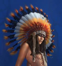 Injun girl by Lakmys