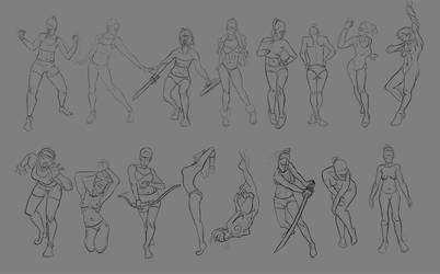 Sketch pose_001 by Lakmys