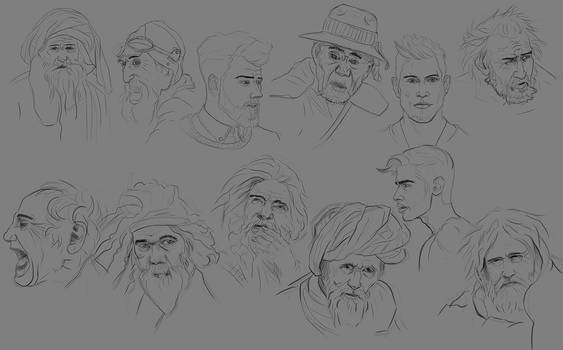 Sketch Faces_001 by Lakmys