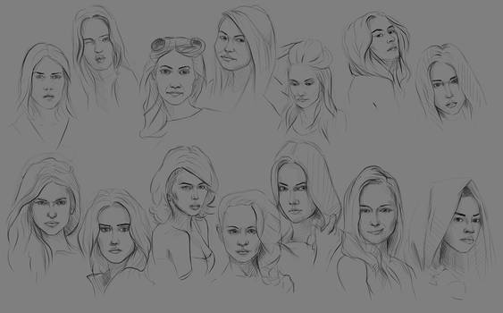 Sketch Faces_002 by Lakmys
