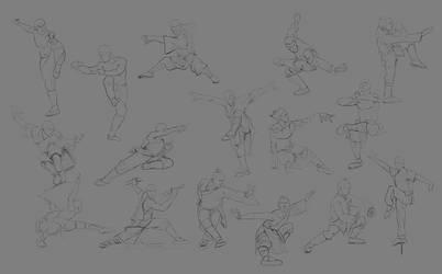 Sketch pose_004 (Monk) by Lakmys