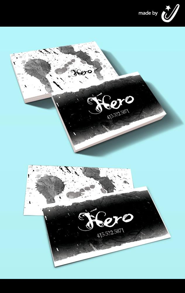 Hero tattoo business cards by joejiko on deviantart for Business card size tattoos