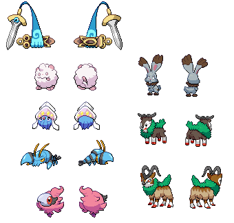 Pokemon XY Sprite Collection by Zermonious