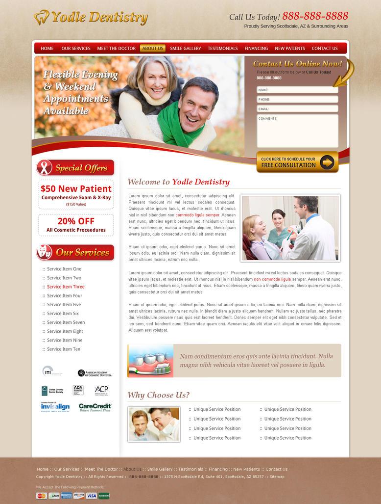 dentist web template by nimeria on deviantart. Black Bedroom Furniture Sets. Home Design Ideas