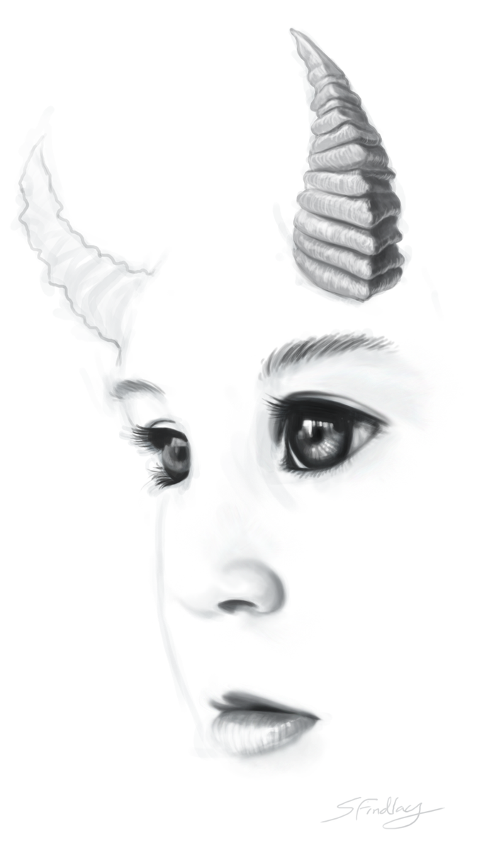 Horned child3 by zimfin