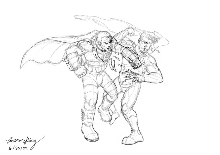Dark Knight sketch by silentsketcher