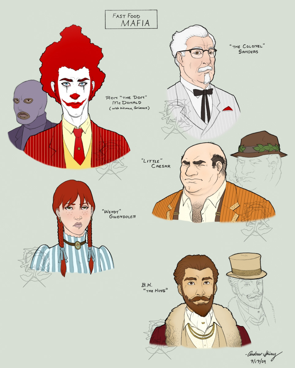 Fast Food Mafia by silentsketcher