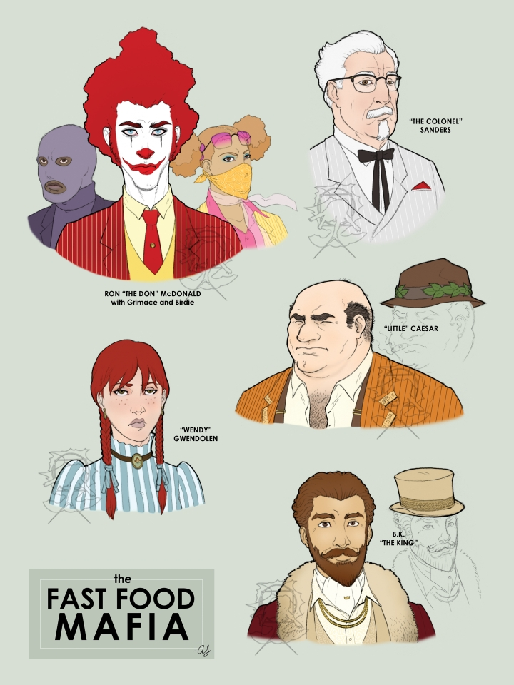 Fast Food Mafia v.2 by silentsketcher