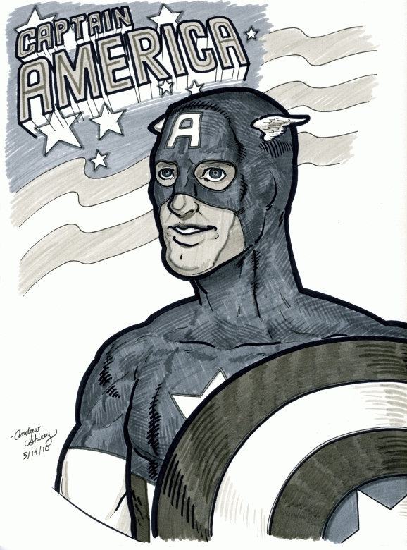 MC '10 con - 2: Capt. America by silentsketcher