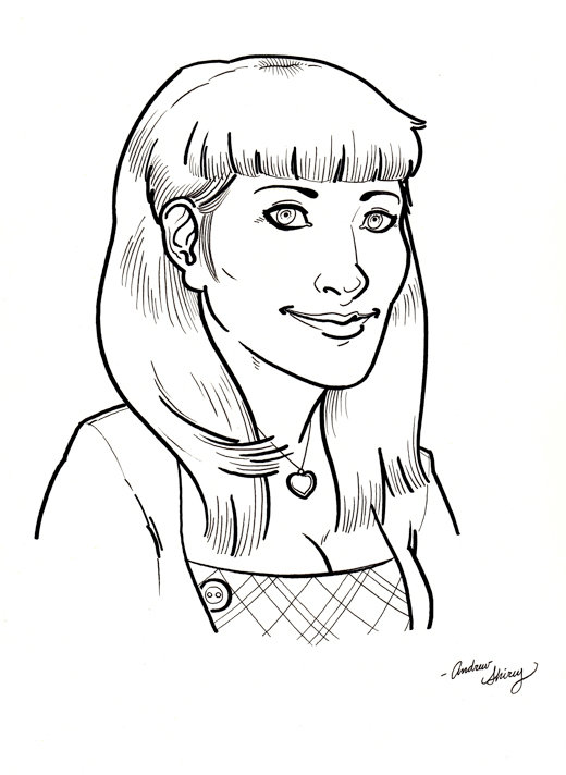 MC '10 con caricature: Gina by silentsketcher