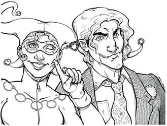 Harley and Mister J by silentsketcher