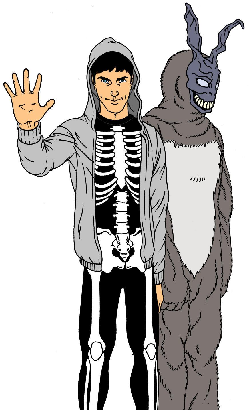 Donnie Darko and Frank by silentsketcher
