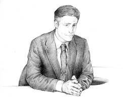 The Daily Show's Jon Stewart by silentsketcher