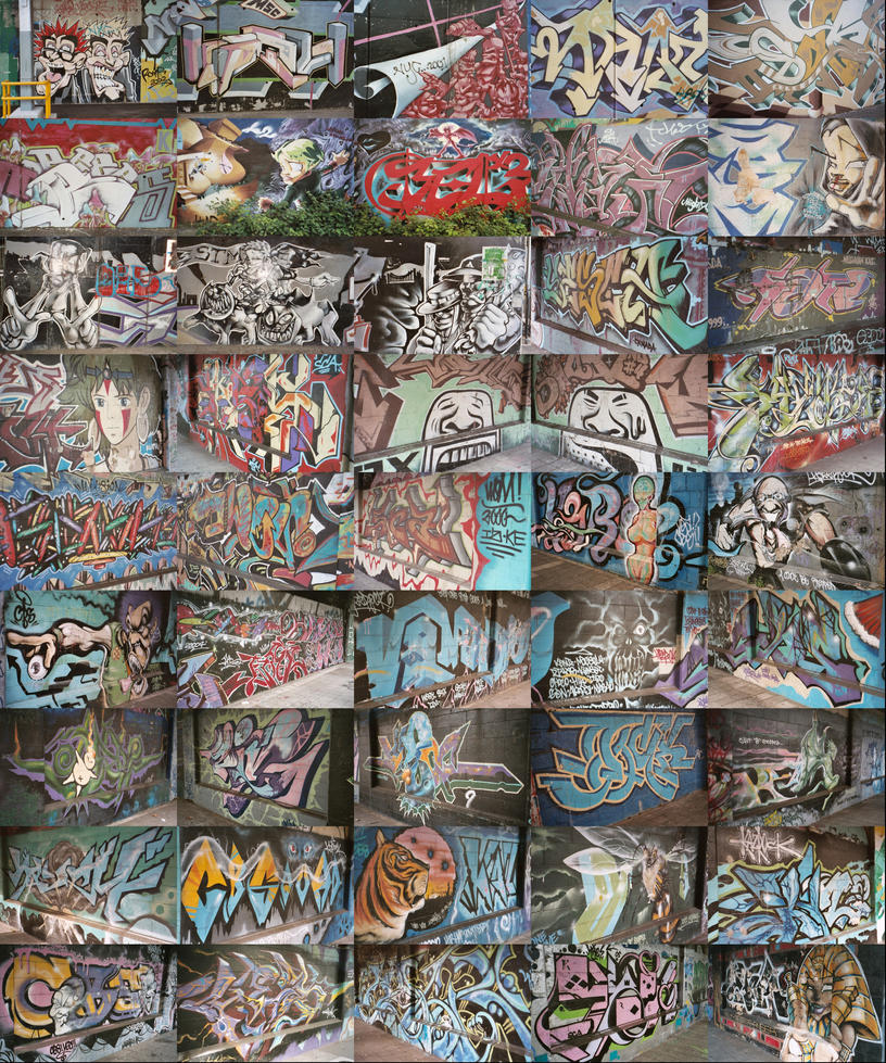 Yokohama graffiti wall - Yokohama Graffiti By Silentsketcher