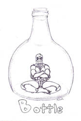 Spider in a Bottle by cthulhumeetsworld