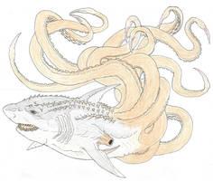 Sci-Fi Re-imagined: S-11 AKA Sharktopus by Beastrider9