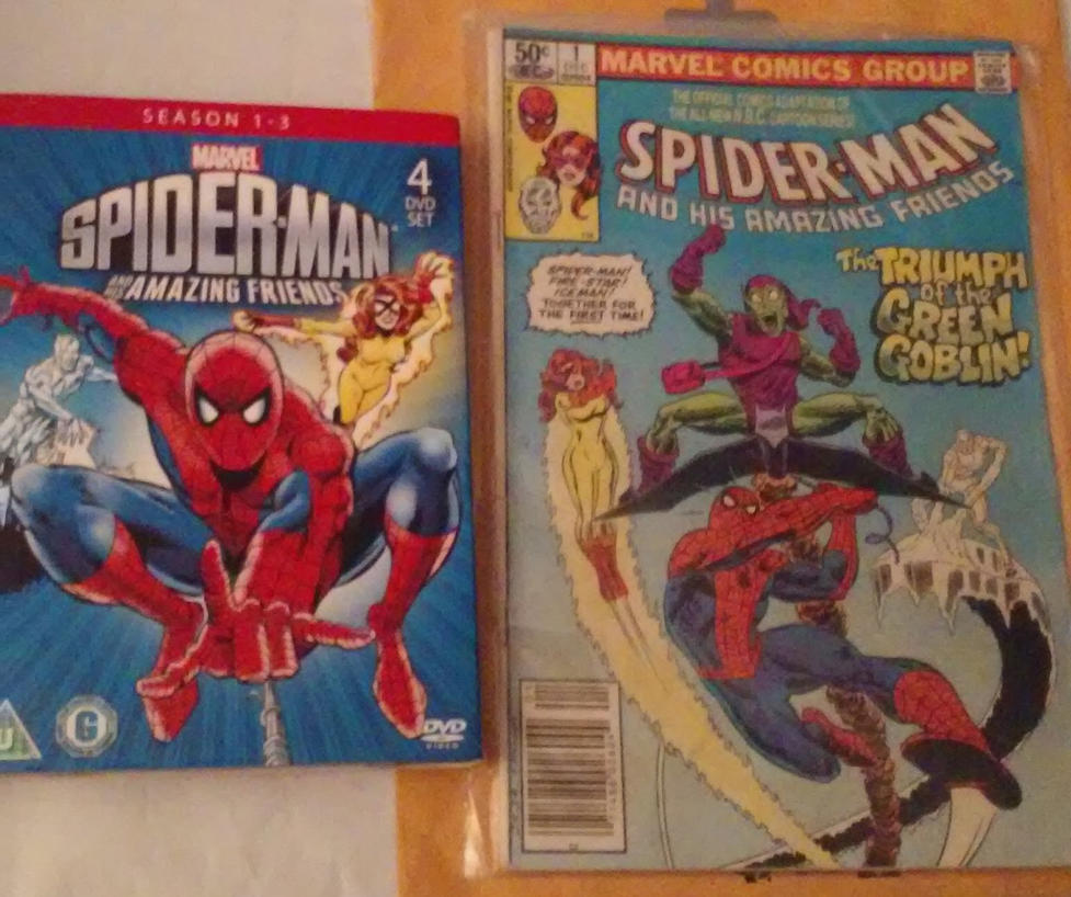 80s spider spider-man and his amazing friends dvd by comicanimefan